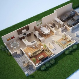 Architectural 3D Renderings-Floor Plans