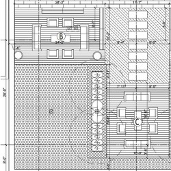 IPE wood decking and support frame shop drawings