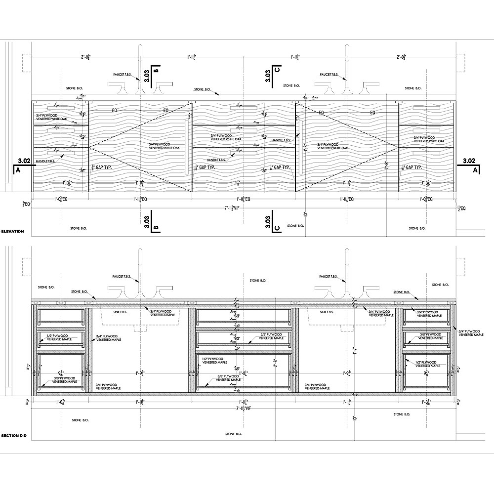 Concept Drawing Kitchen Cabinet: Kitchen, Master Bath & Bedroom Cabinets Shop Drawings