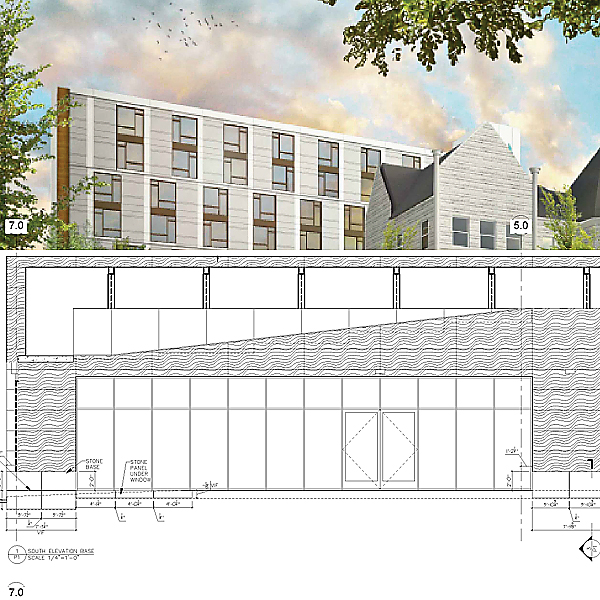 Bluestone Panels Shop Drawings For New Construction Project