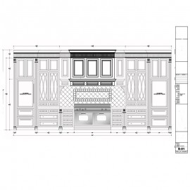 Kitchen Cabinets Shop Drawings