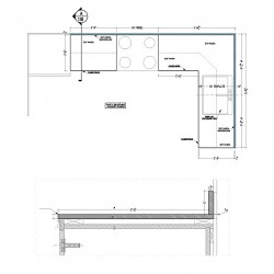 Kitchen countertop shop drawings