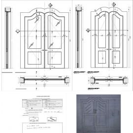 Custom wood doors shop drawings