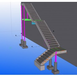 Exterior Stairs Shop Drawings with 3D Model