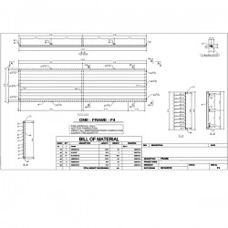 Slated aluminum fence sections shop drawings