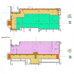 Commercial Carpet and tile flooring shop drawings