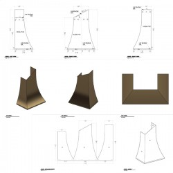 Kitchen hood shop drawings and template for laser cutting