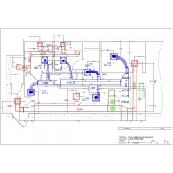 I am looking for duct connections and measurements shop drawings.