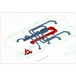 Duct work modifications and equipment installation Shop Drawings