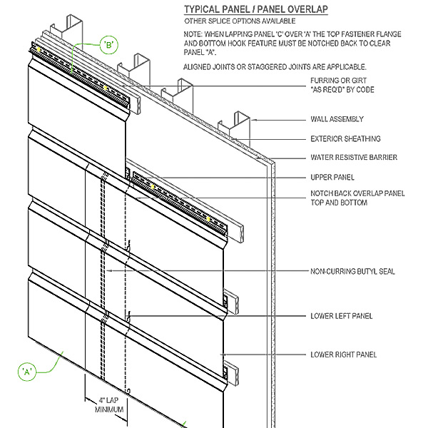 Shop drawings for approximately 4000 SF Firestone® metal panels
