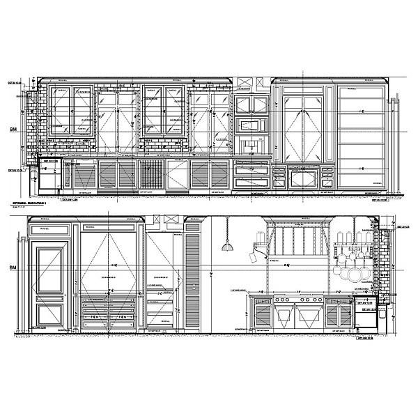 Kitchen shop drawings needed for remodeling project.