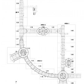 Porcelain floor and wall tile shop drawings for new shopping mall