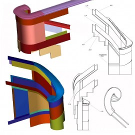 Marble Staircase Volute Shop Drawings