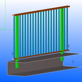 Shop drawings for aluminum railing with handrail.