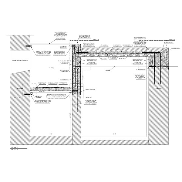 Concrete and rebar placement shop drawings