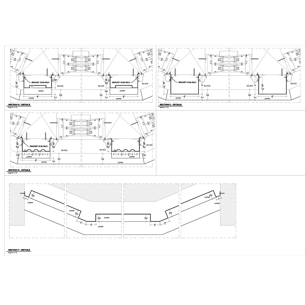 Sheet Metal Shop Drawings For Historic Restoration Project