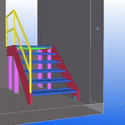 I need simple metal stairs shop drawings for permit.