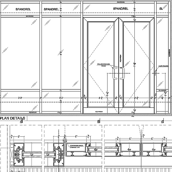 Storefront shop drawings needed for submittals