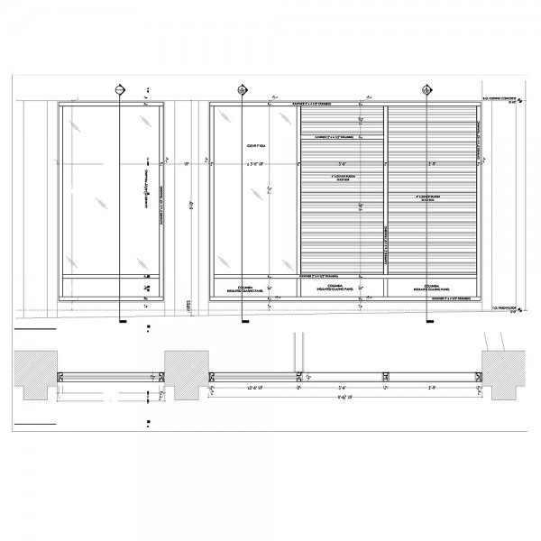 I need Storefront shop drawings with material list.