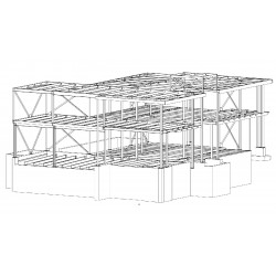 Structural Steel and Decking Shop Drawings with 3D Model and Data for Fabrication.