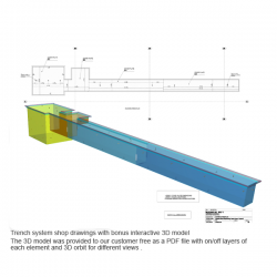 Trench system shop drawings