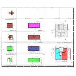 Wall and floor tile shop drawings for public restrooms