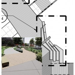 Shop drawings for the wood decking structure with bill of material