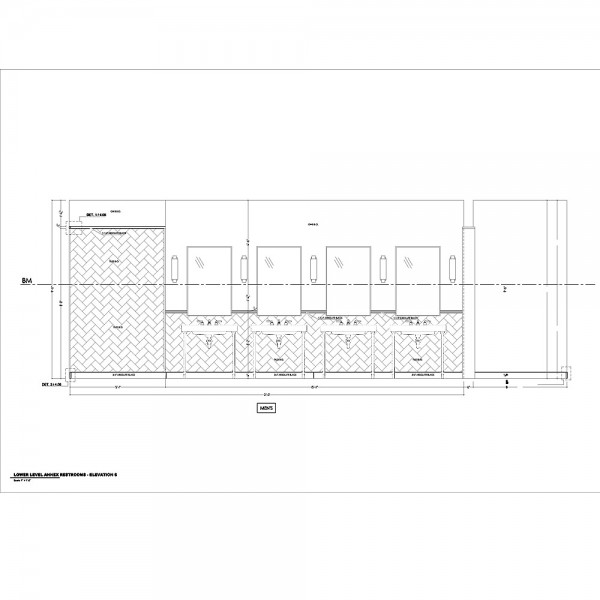 Stone floor and wall tile shop drawings for Hotel building.